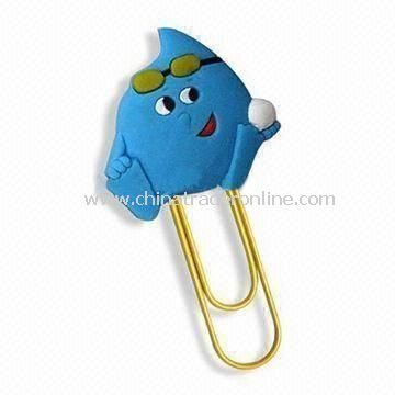 Cute Paper Clip, Book Mark with Novel Design, Made of Soft PVC, Suitable for Promotional Gifts