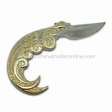 Delicate Knife Shape Letter Opener, Ideal for Promotions and Retailing Purposes