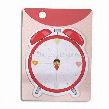 Desk Sticky Note Pad with Backer Card, Used for Children Stationery Gifts