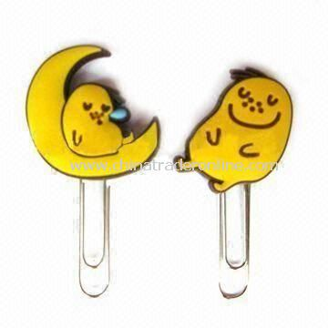 Eco-friendly Cute Paper Clips with Novel Design, Made of Soft PVC, Suitable for Promotional Gifts from China