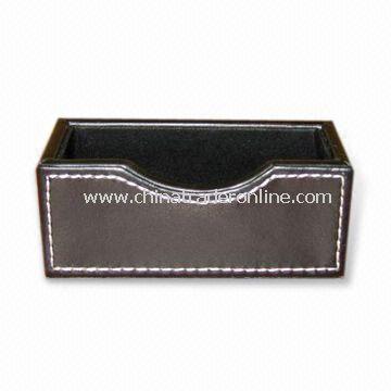 Leather Namecard - Memo Holder, Measuring 11.5 x 4 x 3.5cm