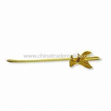 Letter Opener with Gold Surface Finishing, Made of Zinc Alloy Material