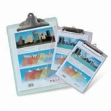 Lightweight Clip Boards, Customized Logos are Accepted, Measures 218x 115mm