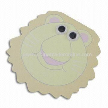Lion Shaped Sticky Note Pad with Vivid Eyes, Various Designs and Shapes are Available