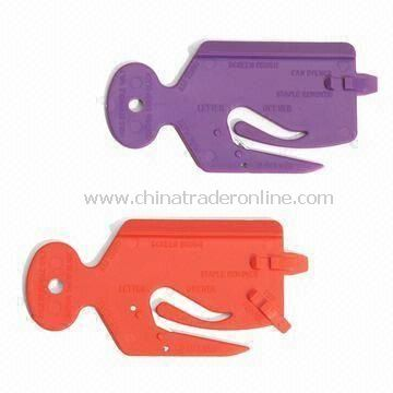 Multi-tool Office Monster Letter Openers, Made of Plastic, Includes Staple Remover/Screen Cleaner from China