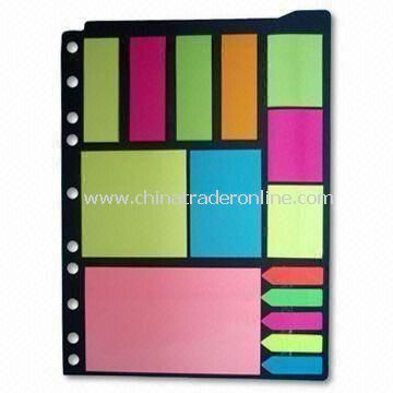 Neon Sticky Note Pads, Stationery Set for Company and School Children