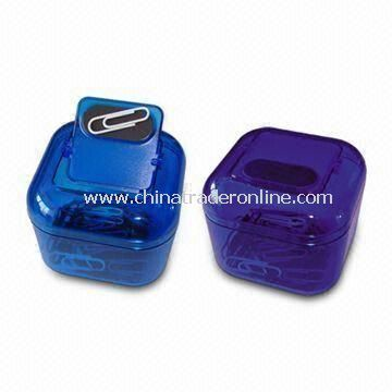 Paper Clip Holder, Customized Logo Printings are Welcome, Ideal for Promotions, Made of Plastic