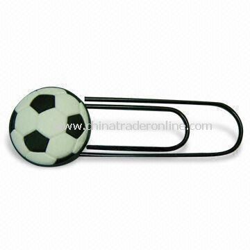 Paper Clip in Novel Design, Made of Soft PVC, Ideal for Gifts, Customized Logos are Welcome