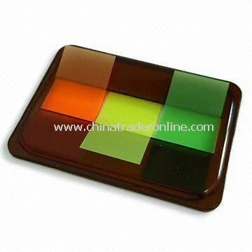 PET and PVC Sticky Note Pad, Available in Fluorescent Colors