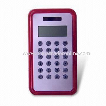 Promotional Calculator with Dual-power, Customized Colors are Accepted
