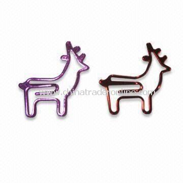 Promotional Paper Clip Holder, Various Colors and shapes are Available