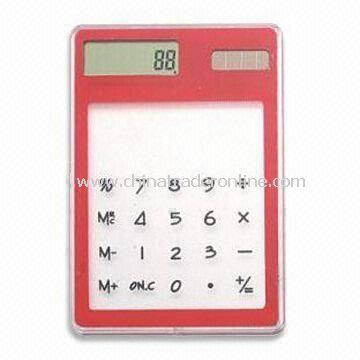 Promotional Solar Calculator with 8-digit Display, Customized Logos are Accepted