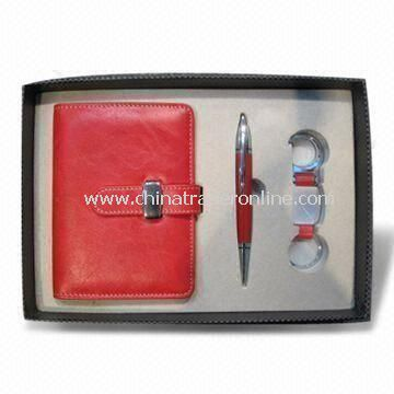 Stationery Gift Set, Includes Pen and Keychain, Suitable for Promotional Purposes