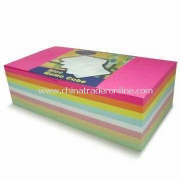 Sticky Note Pads, Available with No Printing, Made of 80gsm Neon Paper