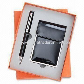 Two-piece Stationery Gift Set, Includes Name Card Holder