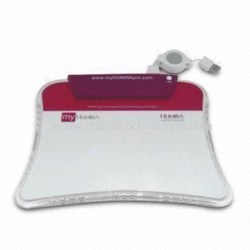 USB LED Light Mouse Pad with USB Hub and Card Reader, Fit for Promotional Gifts