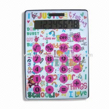 A4 Calculator with 8 Digits, Percentage/Square Root Function and 4 Colors Process Printing