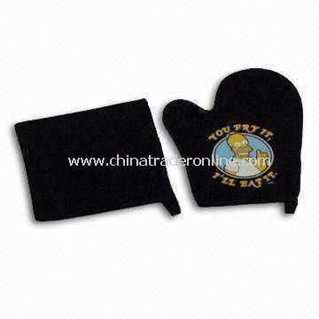 BBQ Accessories with 26.5 x 20cm Glove and 20 x 20cm Cushion