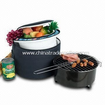BBQ Picnic Set, Made of 600D Polyester Material, Sized 30 x 30 x 20cm, 10-inch Accessories