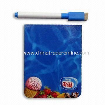 Blue Memo Board with 0.5mm Soft Magnet and 200g Chrome Paper