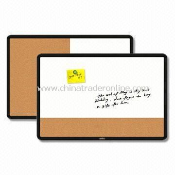Combination Memo Boards with Black Plastic Frame and ABS Corner
