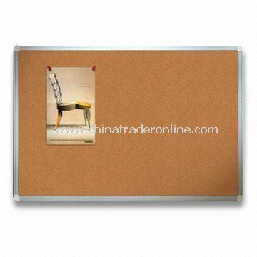 Cork Bulletin/Memo Board with U-Type Aluminum Frame, Available in Various Sizes