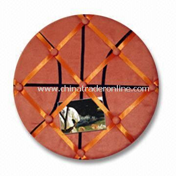 Fabric Memo Board with Basketball Shape, 30 and 45cm Diameter