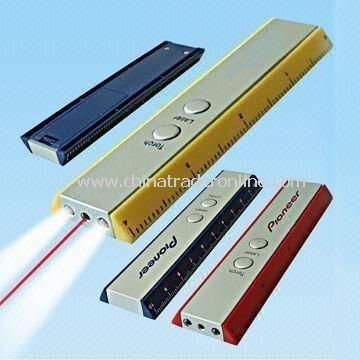 Laser Pointers with LED and Ruler Function, Suitable for Promotions and Gifts