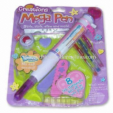 Mage Pen Set with One Marker and Two Mini Glitter Gel Pens, Customized Specification are Welcome
