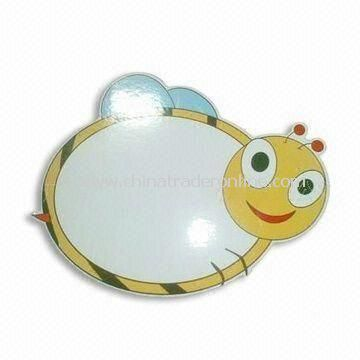Magnetic Memo Board in Bee Design, Customized Sizes and Shapes are Welcome from China
