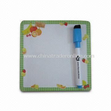 Magnetic Memo Board with Fruits Design, Soft Magnet, and Chrome Paper