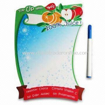 Magnetic Memo Message Board with Wipe Pen, Ideal for Promotions or Premiums