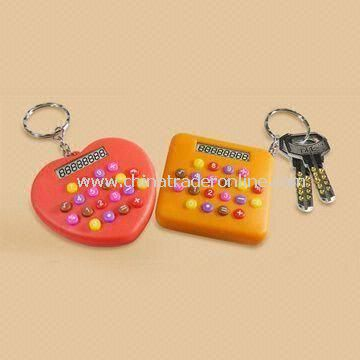 Mini 8-digit Calculators with Keyring, Customized Logos Welcomed