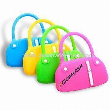 Novelty Handbag-shaped USB Flash Drives with 512MB to 16GB Memory Capacities