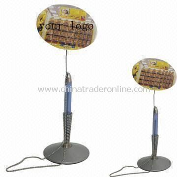 Plastic Table Pen with Metal Spring Stand, Available in Different Styles