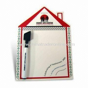 Stylish Magnetic Memo Message Board with Wipe Pen, Available in Various Colors