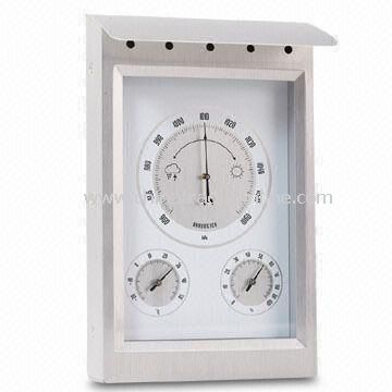 Thermometer, Hygrometer, and Barometer, Measuring 76.2 x 4 x 76.2cm