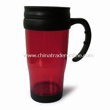 16oz Double-walled Plastic Mug, Measures 55.5 x 48.5 x 20cm