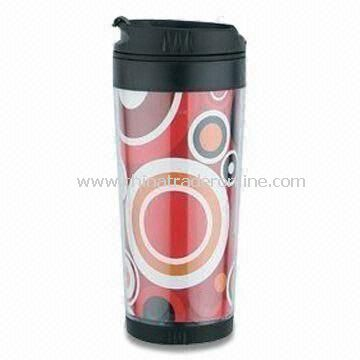 16oz Travel Mug with Waterproof Cover, Made of Plastic
