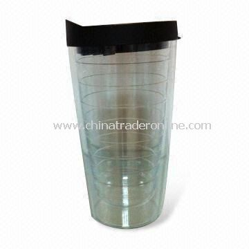 450mL Double Wall Plastic Cup, New Design, Customized Designs are Accepted