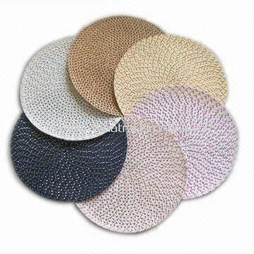 Circular Placemat, Made of Paper Material, Available in Various Colors