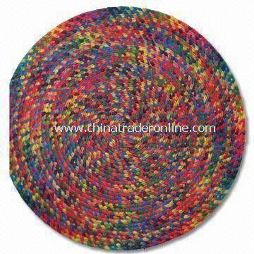 Comfortable Paper Straw Placemat, Made of Hand-crocheted Paper String, More Natural/Environmental from China