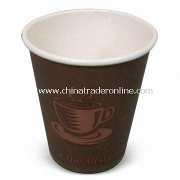 Disposable Cup with 8oz Volume, Made of Paper, Measures 8 x 5.6 x 9cm