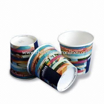 Disposable Cups with PE Coating and 8oz Capacity, Made of 280g Paper