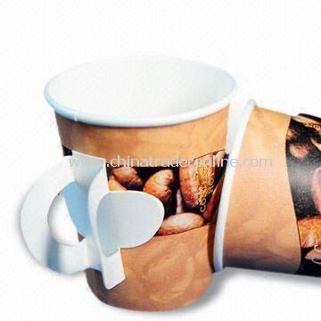 Disposable Paper Cup with Handle, Suitable for Coffee or Water