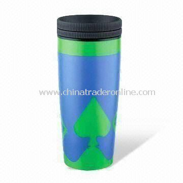 Double Wall Plastic Cup with 16oz Capacity, Measures 55.5 x 37.5 x 22.5cm