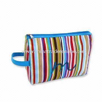 Fashionable 600D Printed Tote Bag with Multicolored Stripes from China