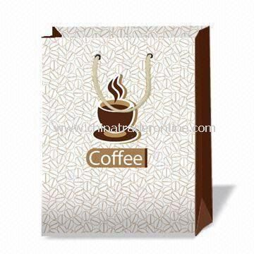 wholesale Fashionable Coffee Printed Shopping Paper Bag, OEM ...