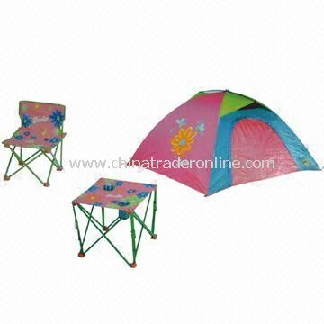 Folding Chair, Tent for Kids and Folding Table