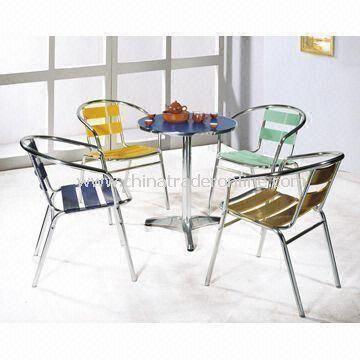 Garden Sets, Made of Melamine Decorative Laminate and Aluminum Tube/Plates-MPAS112